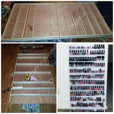 "Haarspray und High Heels: ""Ein Jersey Girl & # s Guide to Beauty"": DIY Nagellack Rack Source by rsladkaja Diy Nail Polish Rack, Diy Nagellack, Ikea Shelves, Home Organization, Organizing, Crystal Nails, Makeup Storage, My New Room, Diy Nails"