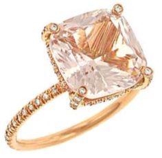 Vera Wang Morganite, pave diamonds Candy ring