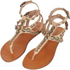 TOPSHOP FLAUNT Embellished Sandals ($100) ❤ liked on Polyvore