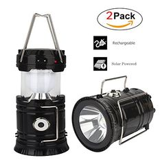 Solar Camping Lantern Led, Lantern Flashlight, Collapsible Rechargeable Lantern Lights Ultra Bright For Outdoor, Emergency, Hurricane, Hiking, Fishing, Tent [2 Pack]. For product & price info go to:  https://all4hiking.com/products/solar-camping-lantern-led-lantern-flashlight-collapsible-rechargeable-lantern-lights-ultra-bright-for-outdoor-emergency-hurricane-hiking-fishing-tent-2-pack/
