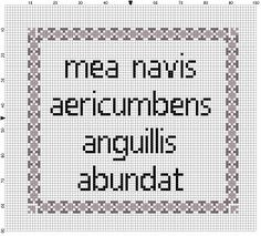 LATIN: My hovercraft is full of eels - Monty Python Cross Stitch Pattern -