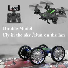 US $45.00 - 60.00 Air-Road Double Mobel SMRC FY602 2 in 1 Flying Car 2.4G RC Quadcopter Drone 6-Axis 4CH Helicopter With HD Camera Run Double Side