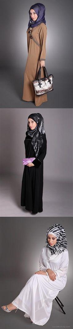 Hijab Fashion 2016/2017: Sélection de looks tendances spécial voilées Look Descreption abaya