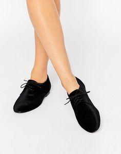 ASOS   ASOS MISSION Lace Up Flat Shoes at ASOS