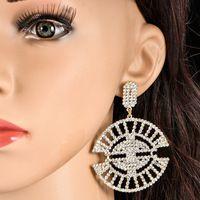 12 Colors Luxury Bridal Silver gold plated Clear Rhinestone Crystal Earing Wedding Party Dangle Chandelier Drop Earrings ec