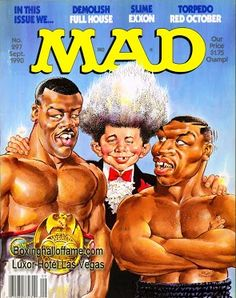 Thank you Don King. Under King's guidance Tyson quickly becomes a former champion and makes the cover of Mad Magazine opposite Buster Douglas - the man who beat him. Even Mad Magazine saw how Don screwed Mike. Stay tuned for the best parts of the feature.  @boxnghalloffame.com