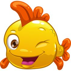 This yellow fish will bring its sunny disposition to someone's profile.