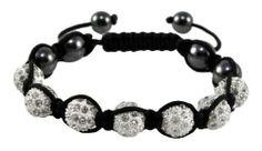Hematite White Macrame Beaded Crystal Stone Balls Shamballa Bracelet, Disco Ball Pave Bracelet, SB10 Hinky Imports. $14.99. Unisex Bracelet for Men and Women. Adjustable Size: (Min. 7.00in; Max. 10.00in). 100% Handmade. Bead Size:10 mm. Made from Shamballa Beads and Hematite