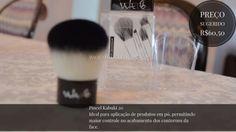 Pincel Kabuki para pó compacto e blush conheçam os novos pincéis para maquiagem VULT, para que servem e quais são realmente necessários para uma make up básica para o dia a dia