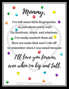 Free Mother s Day Fingerprint Poem Printable
