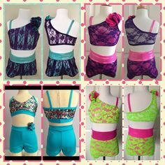 Adorable Dance Clothes for sale @ Dance Costume Connection on Facebook All sizes - colors may varies.  Price:$55