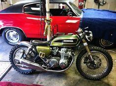 Honda cb550 Brat Style #motorcycles #motos #bratstyle | caferacerpasion.com