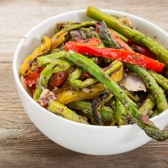 """Grilled Peppers and Asparagus 