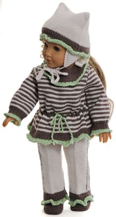 Doll clothes patterns for-18 inch dolls - Your doll will look so lovely in these beautiful new clothes