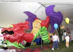 Duct tape dragon sculpture