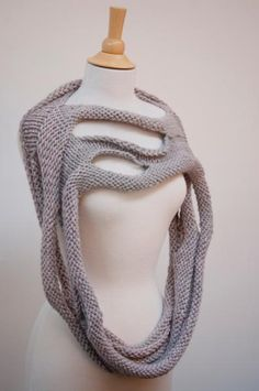 Knitting Ideas | Project on Craftsy: pearl gray loop scarf