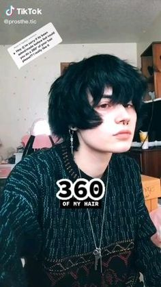 Boy Hairstyles, Pretty Hairstyles, Emo Hairstyles For Guys, Girl Haircuts, Shot Hair Styles, Curly Hair Styles, Hair Inspo, Hair Inspiration, Mullet Hairstyle