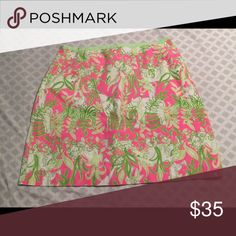 Lily Pulitzer Skirt Pink Green Backyard Safari Print Lilly Pulitzer Skirts Mini