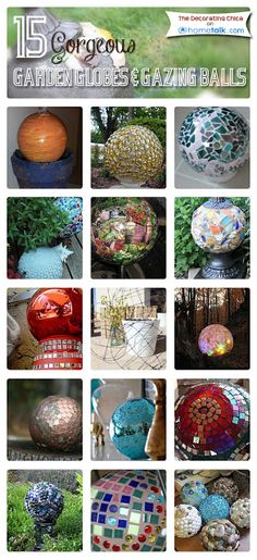 15 Gorgeous {Garden Globes & Gazing Balls} You Can Make Yourself! | curated by 'The Decorating Chica' blog!