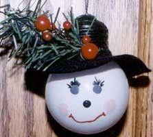 Frosty Lightbulb Ornament