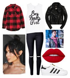 """The Cover Up – Jackets by Superdry: Contest Entry"" by daniisqueen ❤ liked on Polyvore featuring adidas Originals, Lime Crime and Superdry"