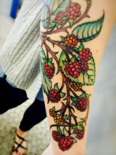 My Mother's Day present to myself.  #raspberry #tattoo