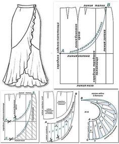Ideas Sewing Vintage Patterns Wrap Dresses For 2019 Dress Making Patterns, Skirt Patterns Sewing, Sewing Patterns Free, Vintage Patterns, Sewing Tutorials, Clothing Patterns, Sewing Projects, Sewing Tips, Modelista