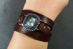 Wrap Around Leather Watch Womens Leather Watch by 4MLeatherDesign, $58.00