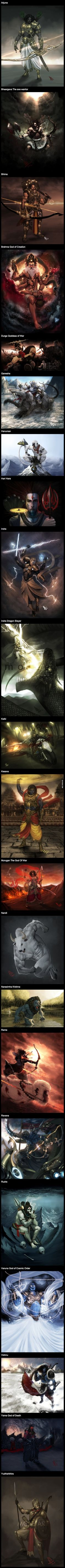Indian Gods & Mythological Characters. We portray them humble but they can be as BADASS as Greek Gods,and then go a little further ahead