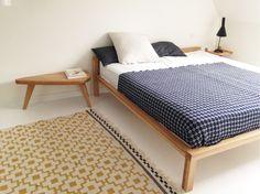 HOTEL BED Solid Nordic Oak 160x200, 180x200cm Design Hans Hansen 1979