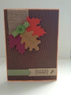 October Card Challenge - Multiple Embossing Folders