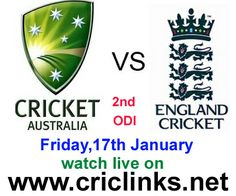 Friday 17th ,January.2nd ODI between AUS vs ENG will be played at Brisbane.aus lead the seris by 1-0.can eng make it 2 all.Match will be start 8.20 AM PST.watch live action only on http://www.criclinks.net/ #AUSVSENG