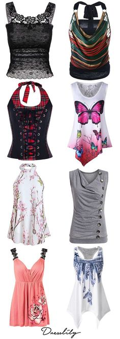 New in Women's Style.Shop for trendy fashion style tank tops for women online at Dresslily. Find the newest styles cute tank tops and camis at affordable prices.#tanktops