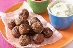Semi-dried tomato meatballs and vegie stick platter main image