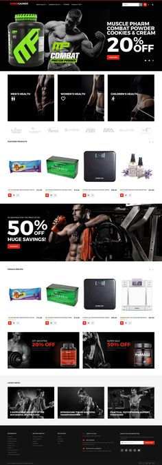 Magento Theme , Hard Gainer - Sports Nutrition Store Responsive