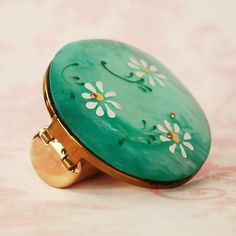 Vintage Lipstick Holder with Pearlized Daisies by NevermoreVintage, $16.00