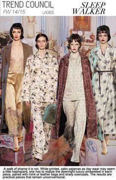 F/W 2014-15, womens ready to wear trend themes, sleep walker