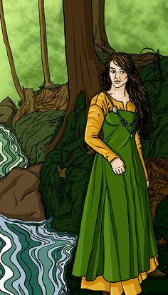 LOFN - she is the ASYNJUR goddess of forbidden love, and one of FRIGG's handmaidens. She is described as a gentle woman who arranges marriages. She survived the RAGNAROK, the battle at the end of the world to determine the fate of the gods. Loki, Viking Culture, Viking Life, Legends And Myths, Celtic Mythology, Asatru, Gods And Goddesses, Mythical Creatures, Deities