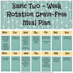 Ideas for a Back to School Meal Plan