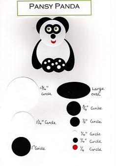 Lavenderstamper: Punch art - Pansy Panda - April 2010