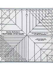 """Feathered Star 8 1/2"""" Squared Ruler"""