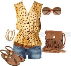 Yellow, created by johnna-cameron on Polyvore  I would definatly try the outfit, not the purse so much though..not a fringe fan.
