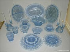 """Imperial's """"Laced Edge"""" pattern, often called """"Katy Blue"""" by collectors."""