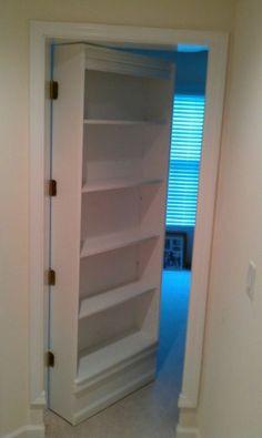 DIY hidden bookshelf door (15 photos) - Xaxor