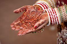 Indian Bride with heena in hands