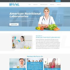 Design a landing page for health and nutrition company by AdixDesign
