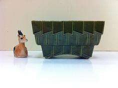 California Pottery Planter Green by vintage19something on Etsy