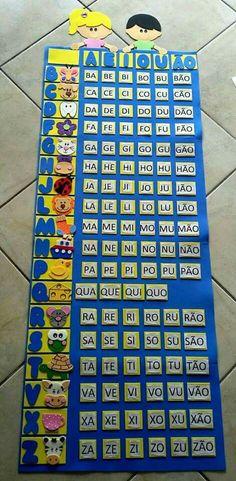 Aprendendo o alfabeto,  feito em EVA.