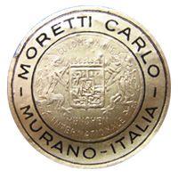 Carlo Moretti Murano glass foil label.