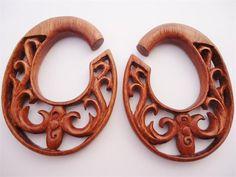 Diablo Organics Blood Wood Cradle Hooks (8 gauge - 1/2 inch)